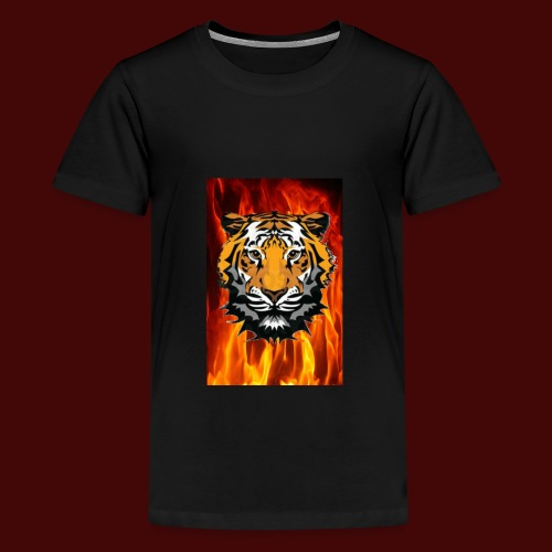 Fire Tiger - Teenage Premium T-Shirt