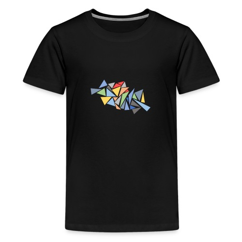 Modern Triangles - Teenage Premium T-Shirt