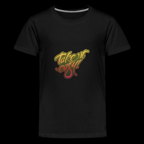 Take it easy yellow-red - Teenager Premium T-Shirt