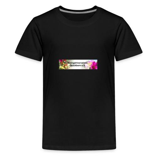 Banner Kleingärtnerverein Quickborn - Teenager Premium T-Shirt