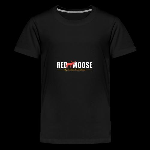 Red Moose logo - Premium-T-shirt tonåring