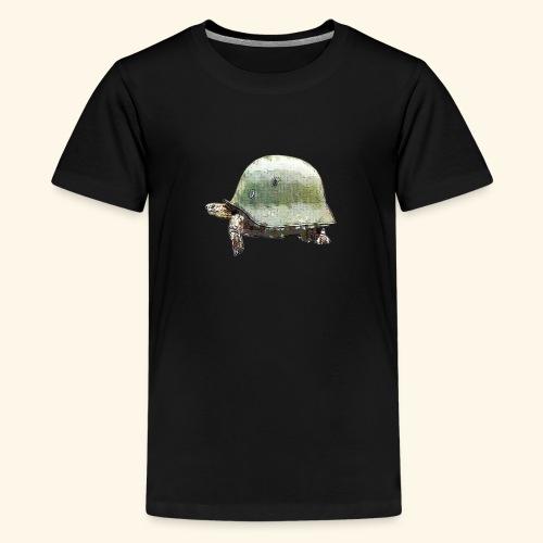 TORTUGA CASCO MILITAR - Camiseta premium adolescente