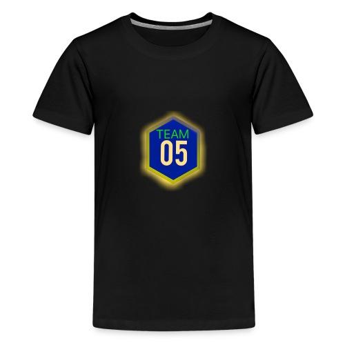 Gult lysene team05 logo - Teenager premium T-shirt