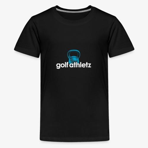 GOLF ATHLETZ - Kettlebell Trainings Sport Motiv - Teenager Premium T-Shirt