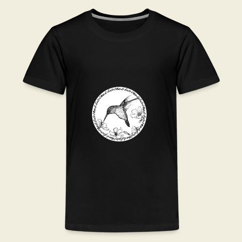 Kolibri Blüten Kreis - Teenager Premium T-Shirt