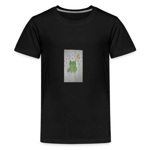 Grüne eule - Teenager Premium T-Shirt
