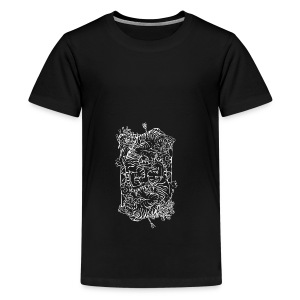Tiger Print - Teenage Premium T-Shirt