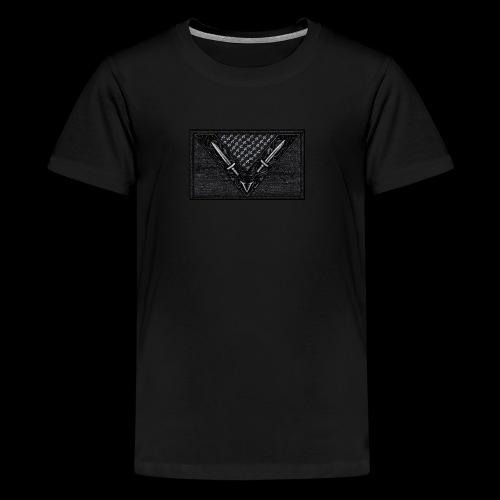 Vegan Battle Flag - Teenager Premium T-Shirt