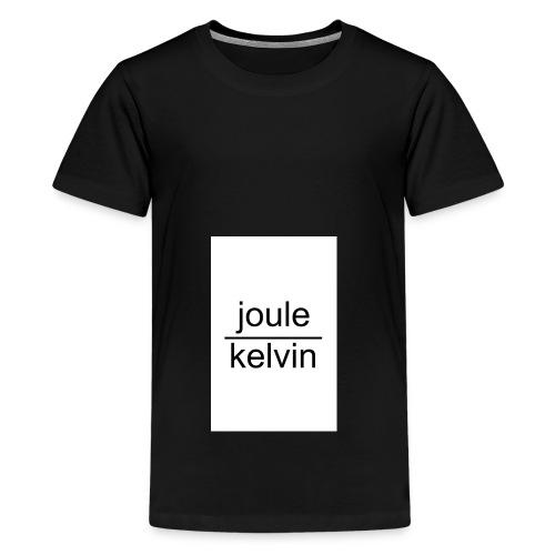 J/K unità di misura dell'ENTROPIA - Maglietta Premium per ragazzi