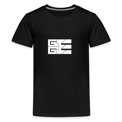 GGE Logo Weiss - Teenager Premium T-Shirt