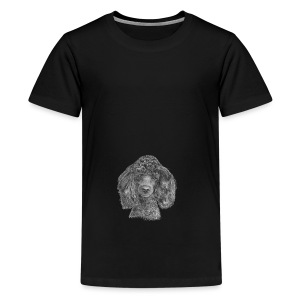 poodle-black-P - Teenager premium T-shirt