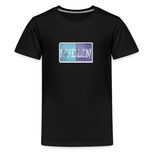 Dublin Distressed Flag T-Shirt - Teenage Premium T-Shirt