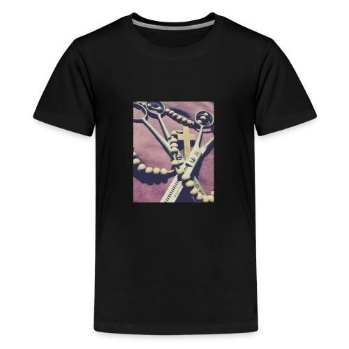 Nożyczki Różaniec - Koszulka młodzieżowa Premium