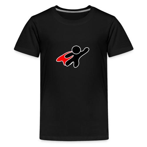 Stickman-Hero - Teenager Premium T-Shirt