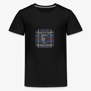 Chardon et Tartan vector logo high res - T-shirt Premium Ado