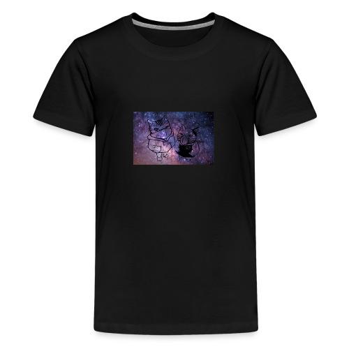 Katzen Galaxie - Teenager Premium T-Shirt