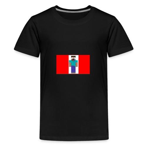 mine craft derp skin t shirt - Teenage Premium T-Shirt