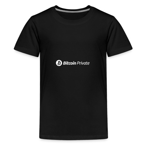 Bitcoin Private Logo White - Teenage Premium T-Shirt