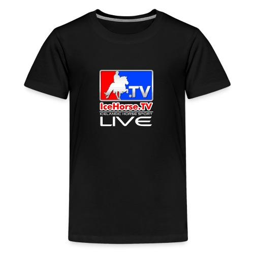 IceHorse logo - Teenage Premium T-Shirt