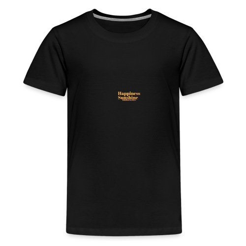 HAPPINESS SUNSHINE KINDNESS LOVE - Teenage Premium T-Shirt
