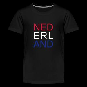 Nederland in de kleuren van de vlag - Teenager Premium T-shirt