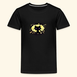 The Kitten and the Moon (black) - Teenager Premium T-Shirt