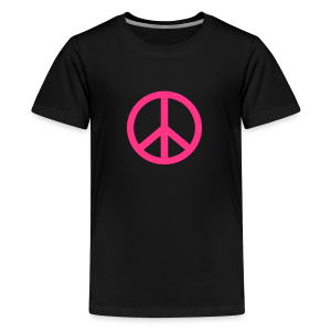 Gay pride peace symbool in roze kleur - Teenager Premium T-shirt