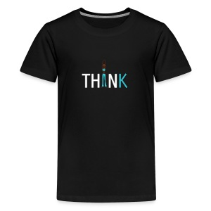 Slim, fit and thin, think being thin and healthy - Teenage Premium T-Shirt