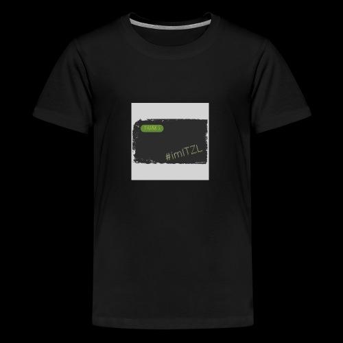 """Thank's"" - Teenager Premium T-Shirt"