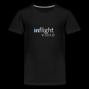 inflight Video White Logo - Teenage Premium T-Shirt