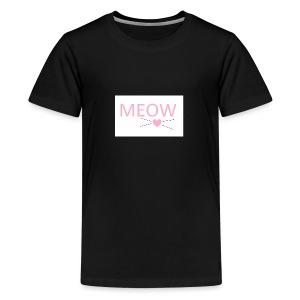 MEOW - Koszulka młodzieżowa Premium