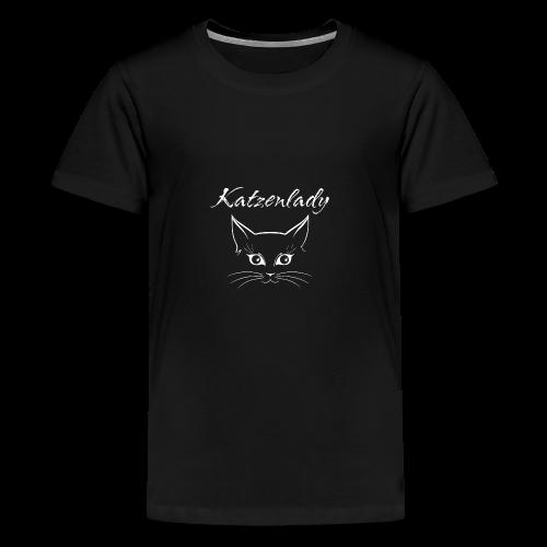 Katzen T-Shirt - Katzenlady - Teenager Premium T-Shirt