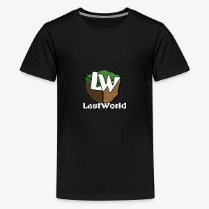 Logo LastWorld Transparent - T-shirt Premium Ado