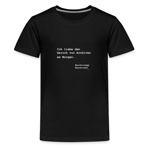 fanshirt archivcamp - Teenager Premium T-Shirt