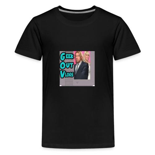 GeekOut Vlogs NES logo - Teenage Premium T-Shirt