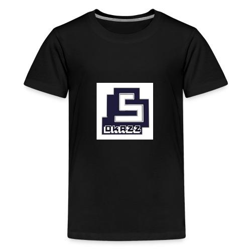 SOKAZZ LOGO - Premium T-skjorte for tenåringer