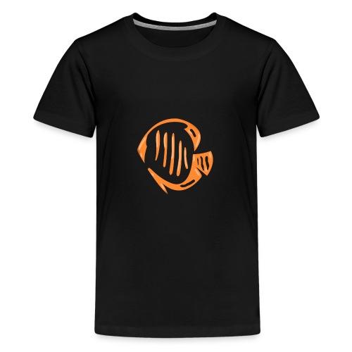 Aquarium Adventures Logo - Teenage Premium T-Shirt
