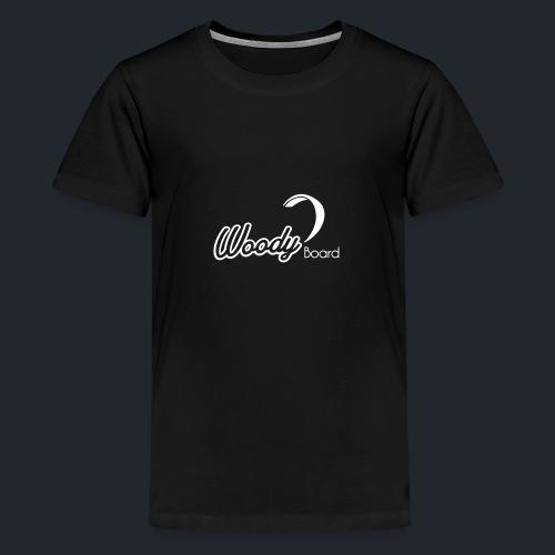 Logo Woodyboard Blanc - T-shirt Premium Ado