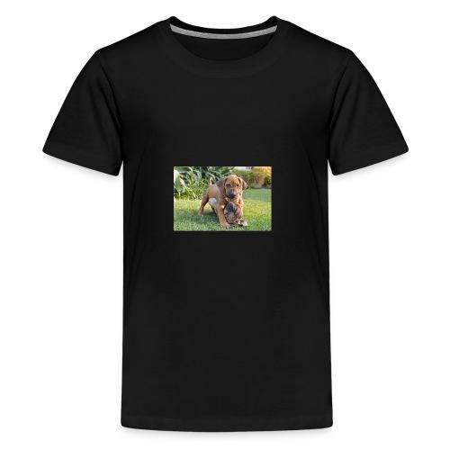 adorable puppies - Teenage Premium T-Shirt