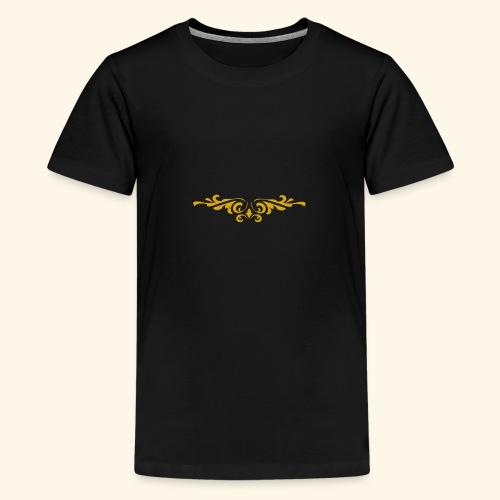 Ilustraccion de un diseño dorado - Camiseta premium adolescente