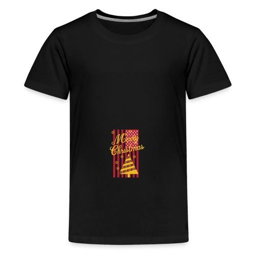 Merry Christmas USA T-Shirt - Teenager Premium T-Shirt