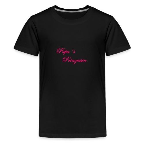 Papa s Prinzessin schwarz pink - Teenager Premium T-Shirt