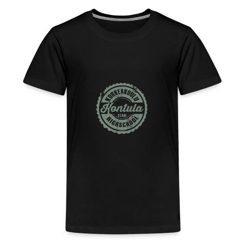06V-KONTULAN KORKEAKOULU - Tekstiilit ja lahjat - Teinien premium t-paita