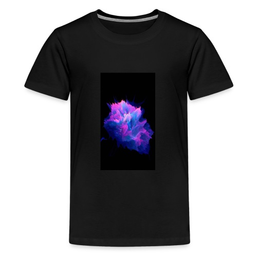 Purple and blue paint splat - Teenage Premium T-Shirt