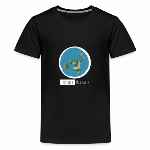 Flache Erde Karte | RESERACH #FLATEARTH - Teenager Premium T-Shirt