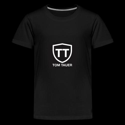 TOM TAUER Logo schwarz - Teenager Premium T-Shirt