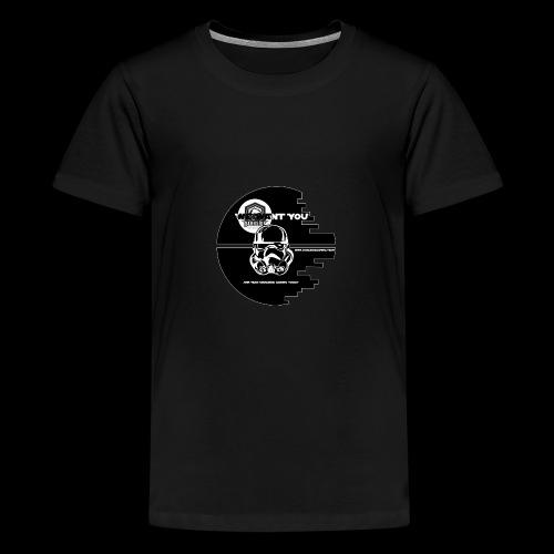 DarkSide Gaming We Want You Death Star Logo - Teenage Premium T-Shirt