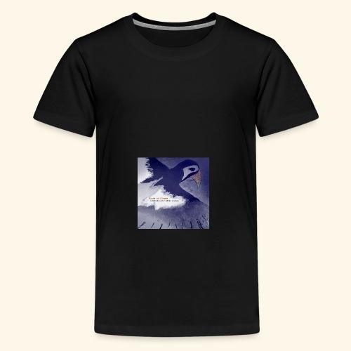 Birds on Clouds stålblå fågel - Premium-T-shirt tonåring