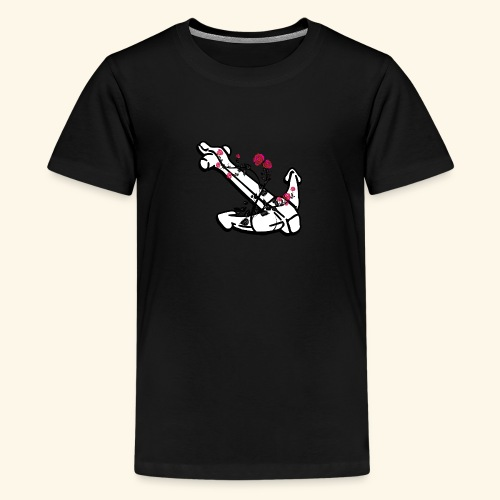 Anker mit Rosenranken - Teenager Premium T-Shirt