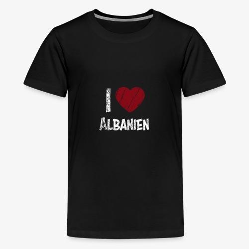 I Love Albanien - Teenager Premium T-Shirt